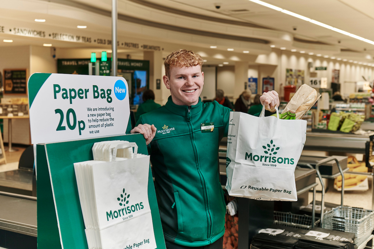 Morrisons to introduce paper carrier bags in all stores