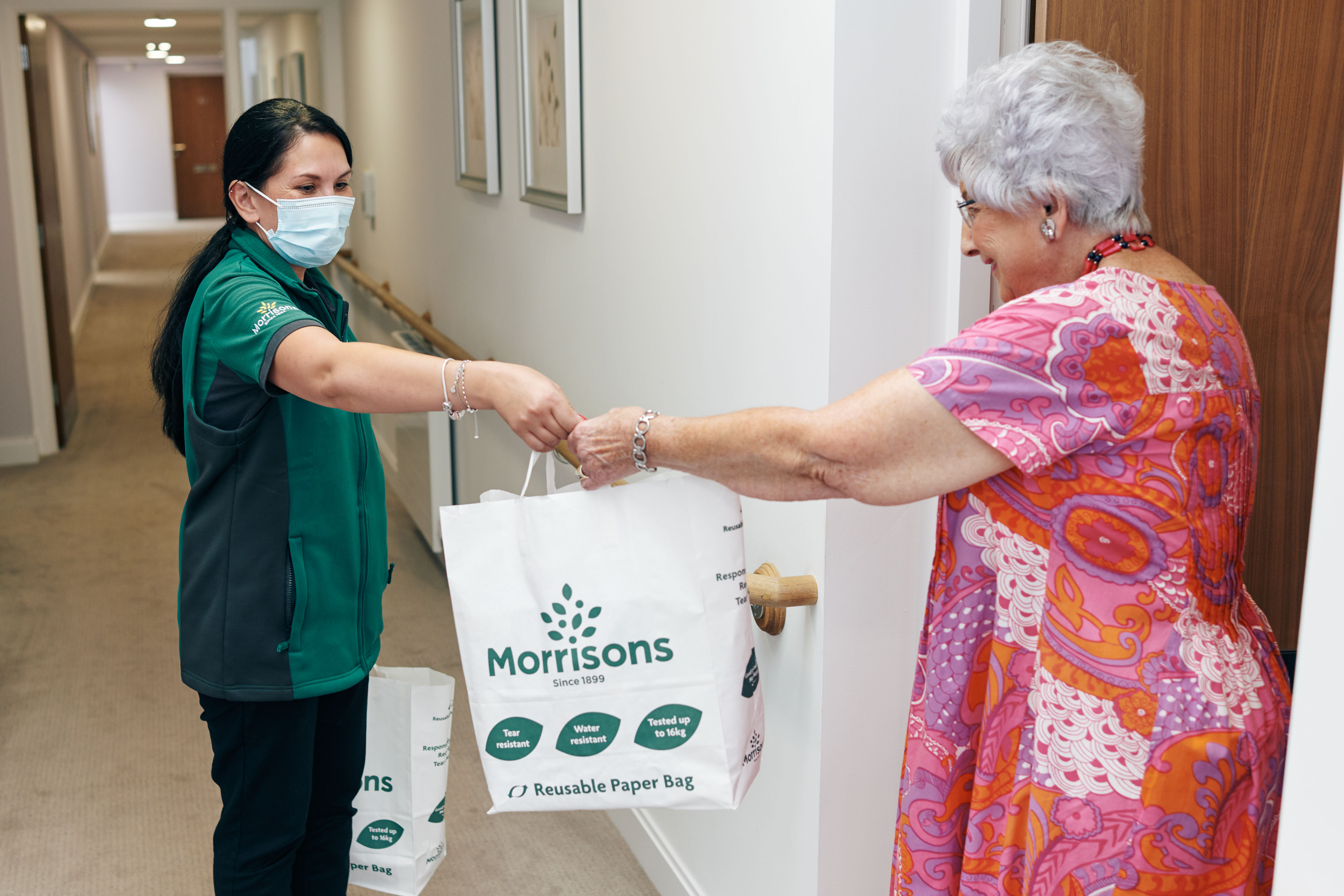 Morrisons provides doorstep deliveries to McCarthy & Stone's nationwide retirement communities